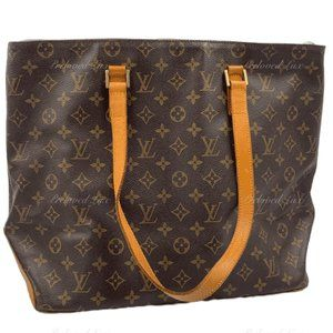 Authentic Louis Vuitton Monogram Cabas Mezzo Bag